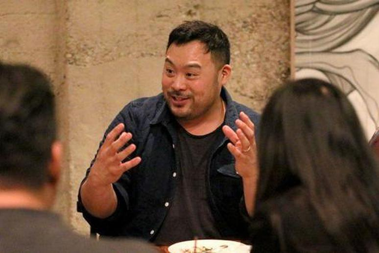"""Chef/owner David Chang hosts an """"Ugly Delicious"""" dinner party at his first West Coast restaurant, Majordomo, in Los Angeles"""