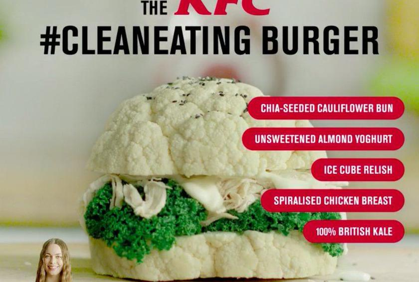 Kfc Confuses Everybody With Clean Eating Burger Marketing Gimmick