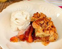 Rustic Peach and Almond Galette