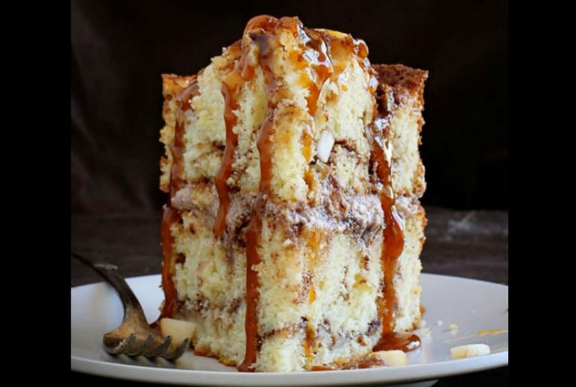 Caramel Apple Cinnamon Cake