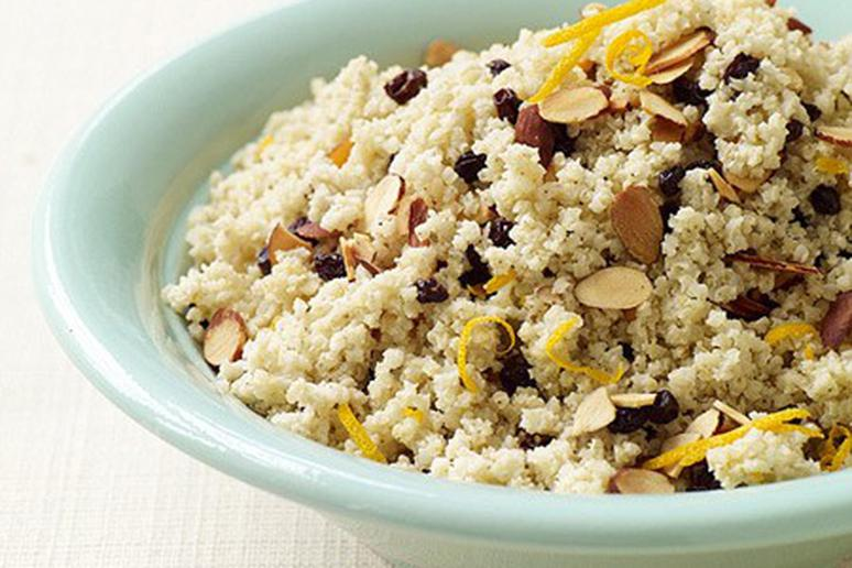 Orange-Scented Millet with Almonds and Currants
