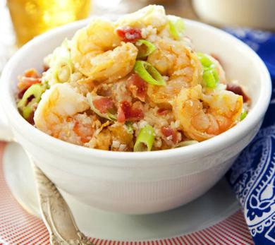 Spicy Shrimp & Cheese Grits