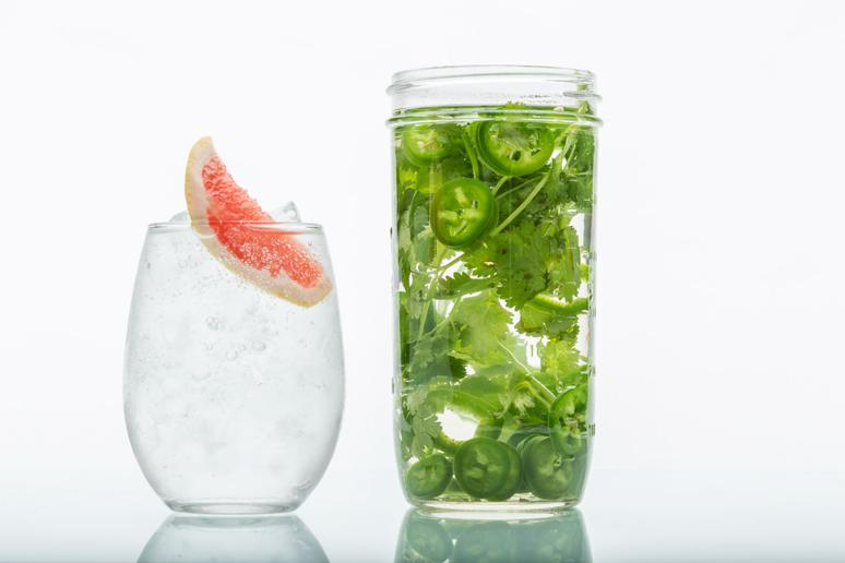 Cilantro- and Jalapeño-Infused Tequila