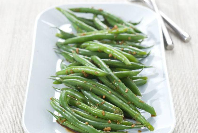 Green Beans with Ginger & Soy