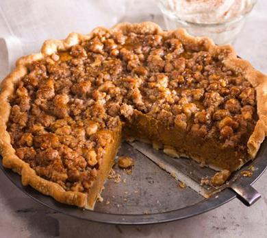Walnut Streusel Pumpkin Pie