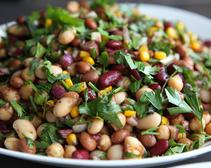 A quick and easy legume-based, Lebanese salad that is often served as a mezze dish.