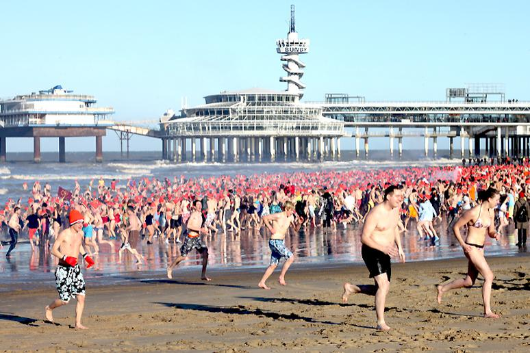 The Polar Bear Swim at Scheveningen, the Netherlands