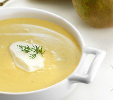 Curried Butternut Squash and Pear Bisque