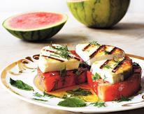 Grilled Watermelon and Manouri