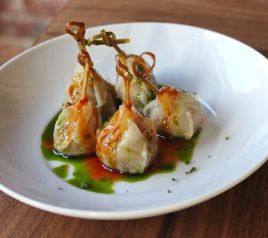 Seared Foie Gras Dumplings