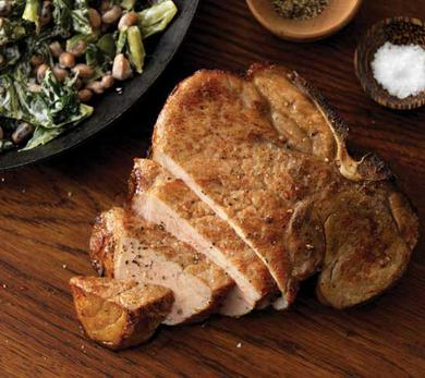 Tea-Brined Porterhouse Chops