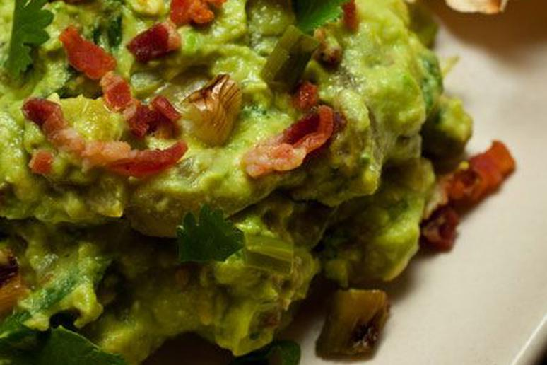 Guacamole with Bacon and Ramps