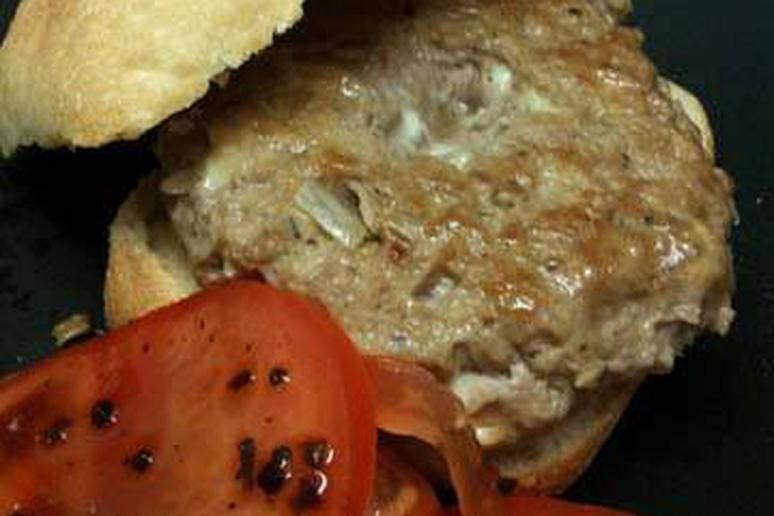 Gorgonzola-Stuffed Turkey Burger