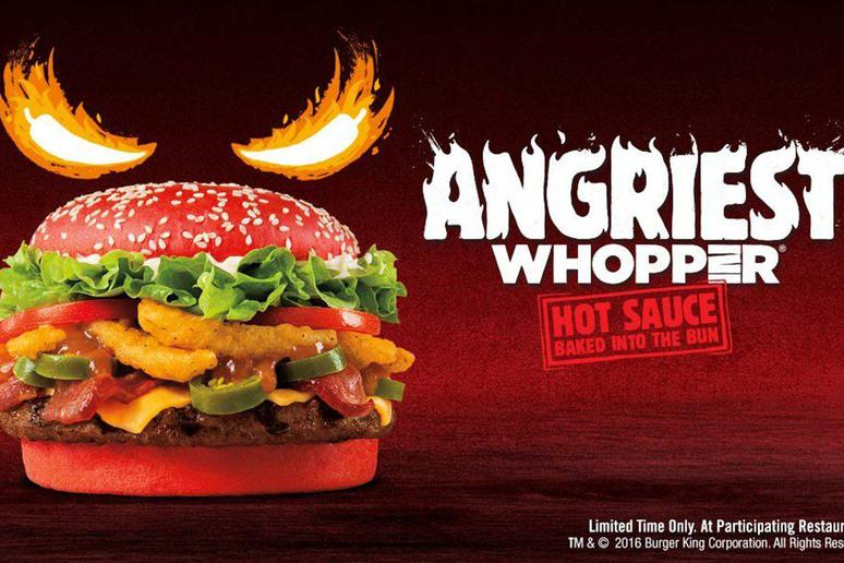 """Is """"Angriest Red Whopper"""" a befitting name for a Trump burger?"""