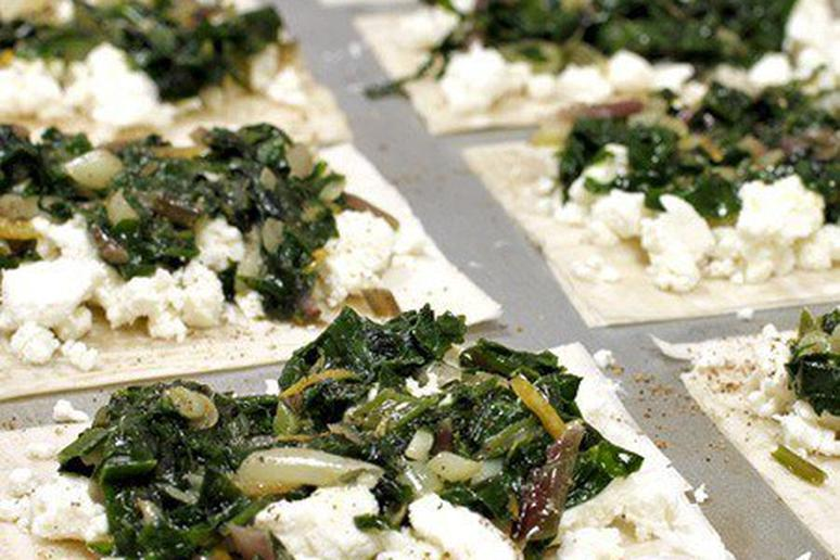 Goat Cheese Tarts with Ramps and Lemon Zest