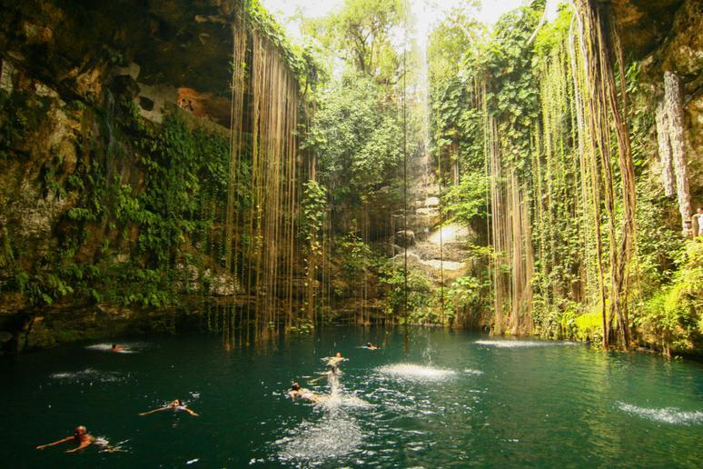 Swimming in cenotes in Cancún and the Riviera Maya