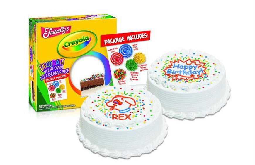 Friendlys And Crayola Team Up To Help You Decorate Your Own Ice Cream Cake