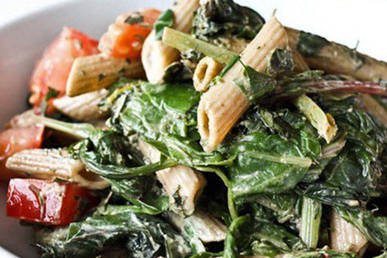 Herby Pesto Pasta Salad with Chard