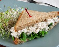 Imitation Crab and Tuna Salad Sandwich