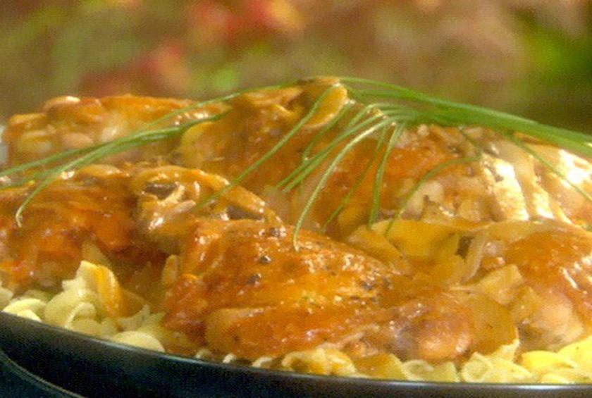Braised Chicken Thighs With Button Mushrooms By Emeril Lagasse At