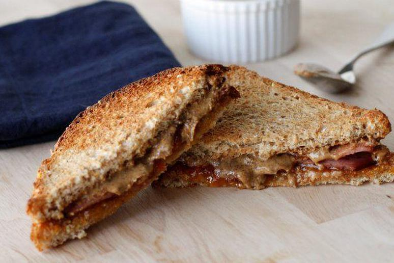 Toasted Almond Butter & Marmalade Sandwich