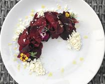 Salt Cured Beet Salad.