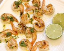 Grilled Shrimp with Cilantro-Chili Sauce