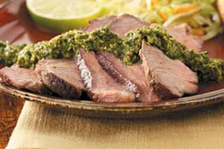 Steak with Chipotle Lime Chimichurri
