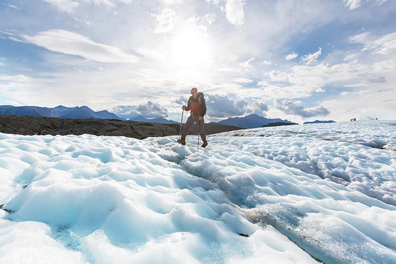 Go glacier hiking near Girdwood, Alaska