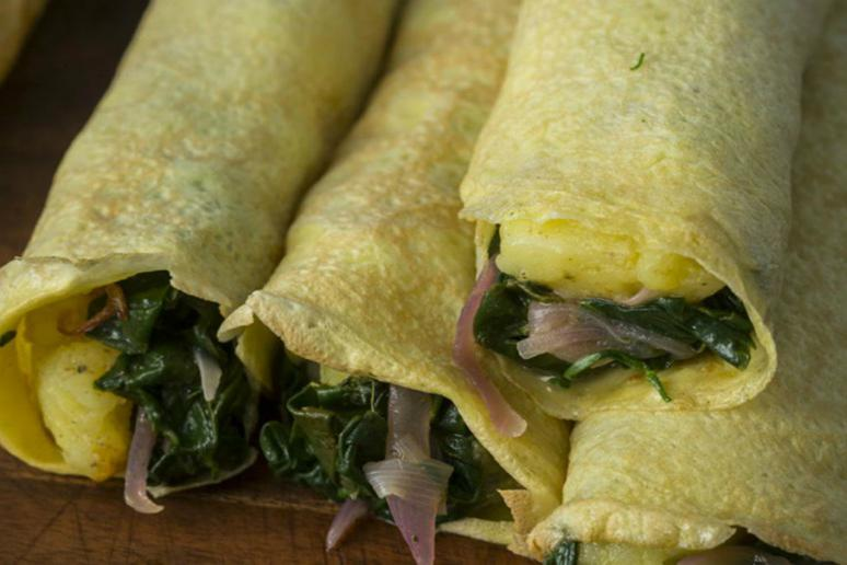 Spinach Egg Crepes