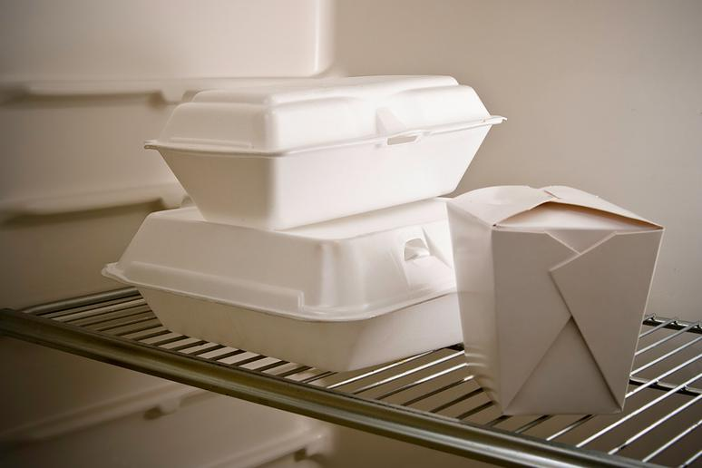 Leftovers in Styrofoam containers