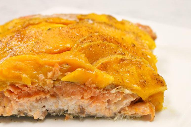 Foil-Baked Salmon with Mango, Chile, and Lime
