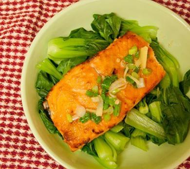 Miso-Glazed Broiled Salmon