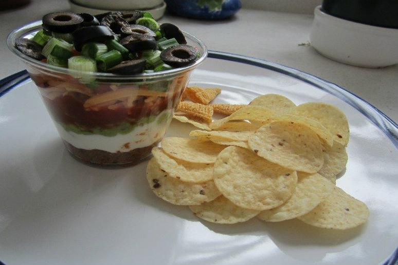 Slow Cooker Mexican Seven Layer Dip