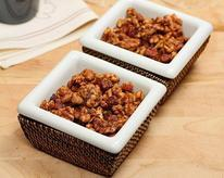 Maple, Bourbon, and Bacon Spiced Walnuts