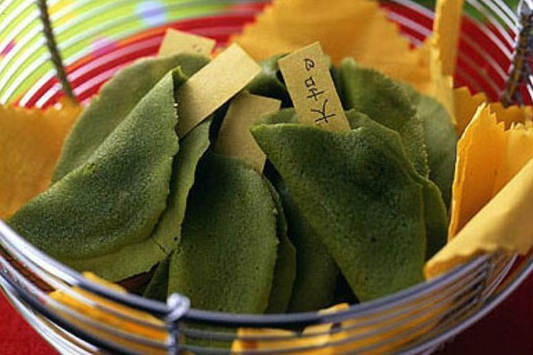 Matcha Fortune Cookies