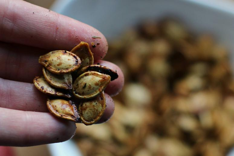 Jerk Roasted Pumpkin Seeds