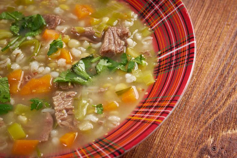 Healthy Brisket and Barley Stew With Tomatillos