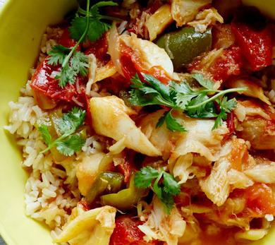 Flaked Bacalao Stew