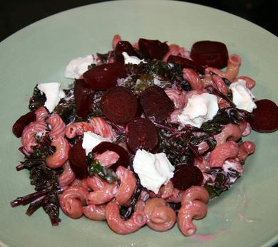 Beet and Goat Cheese Pasta