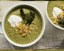 creamy broccoli soup quinoa
