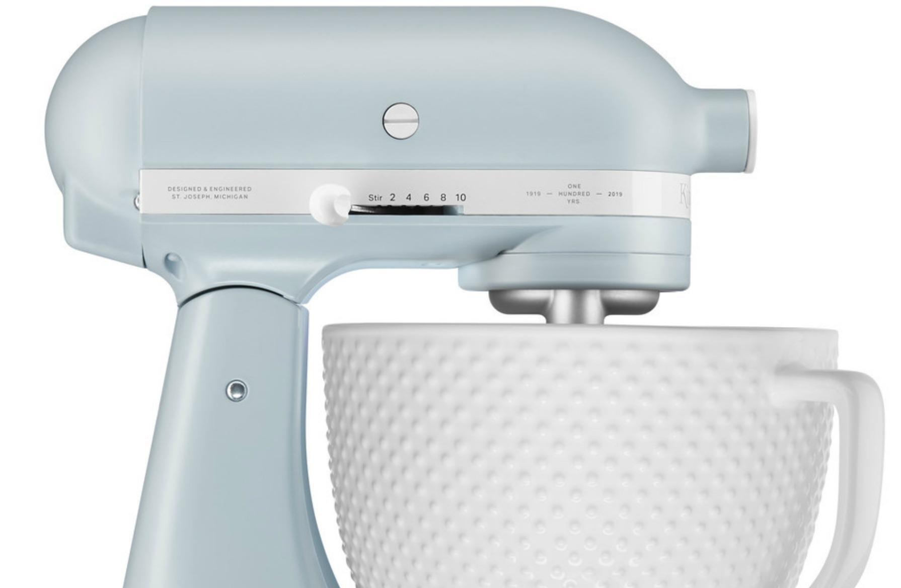 KitchenAid Introduces Misty Blue Mixer To Honor Its 100th Anniversary
