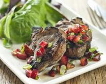 Grilled Lamb Chops with Cherry Salsa