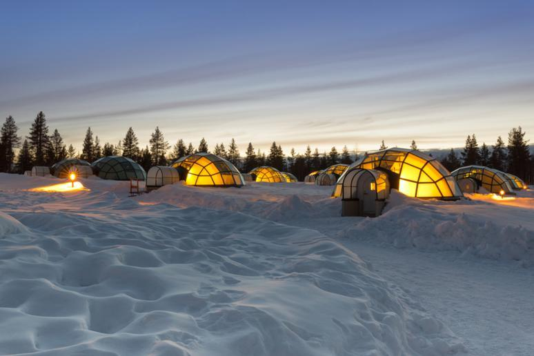 Spend the night in an igloo in Finland