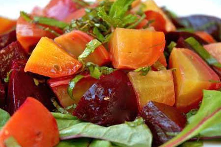 Beet Salad with Mint and Basil Recipe