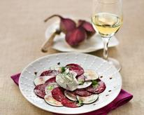 Two-Beet and Goat Cheese Carpaccio