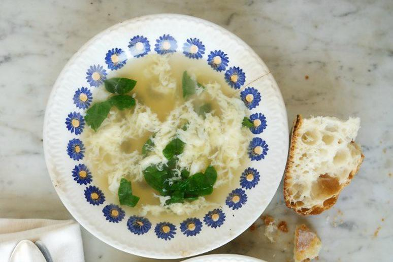 Roman Egg Drop Soup