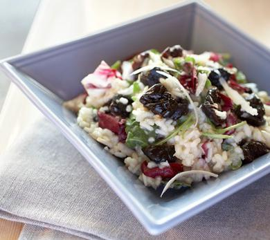 Risotto with California Dried Plums and Radicchio