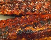 Spice rubbed baby back ribs with homemade red wine BBQ sauce Recipe