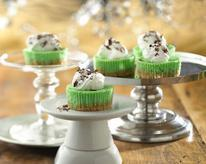 Mini-Grasshopper Cheesecakes